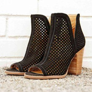 LUCKY BRAND Larise Cutout Perforated Suede Booties